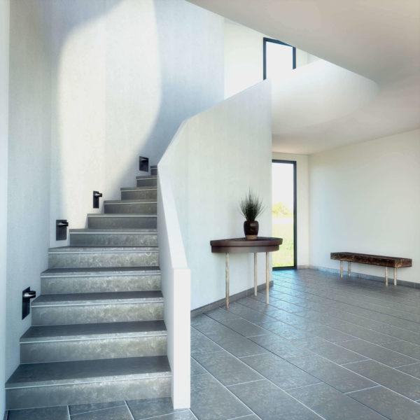 grauer Treppenaufgang