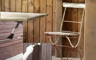 Gartenmöbel aus Holz reinigen